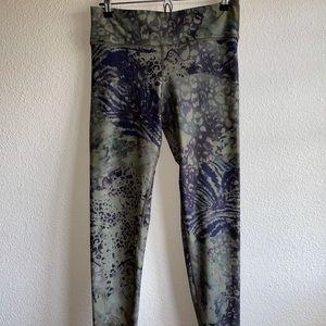 Savvi Army Green/Black Tie Dye Print Leggings